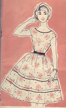 выкройка платья в стиле 60-х.